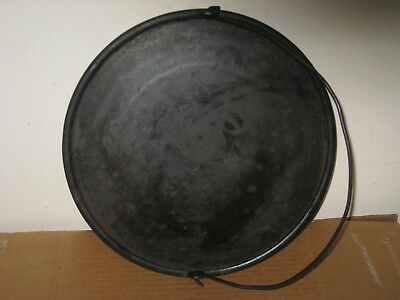 "Antique Cast Iron 12"" Round Griddle with Gate Mark"