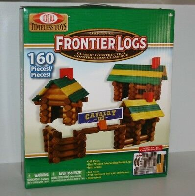 Ideal Timeless Toys Original Wooden Frontier Logs Classic Construction 160 Piece