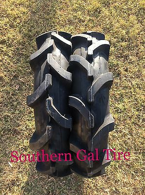 TWO 8-16 Deestone Compact Tractor Tire Farm AG R-1 Lug 6 PLY D413 8x16 816