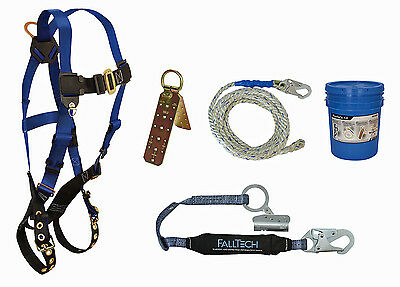 NEW FallTech 8595A Contractor Harness Roofer's Kit, Universal Fit