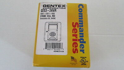 Gentex Fire Alarm Strobe GES3-24WR 904-1321-002 24VDC 60 Day returns NIB