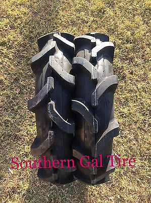 TWO 7-16 Deestone Compact Tractor Tire TT Farm AG R-1 Lug 6 PLY D413 7x16 716