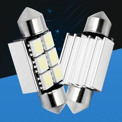 10X36mm 6 SMD 5050 LED CANBUS Error Free Car License Plate Bulb Dome Festoon
