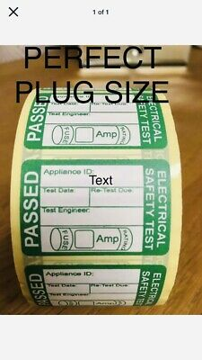 PAT TEST LABELS PORTABLE APPLIANCE TESTING PASSED STICKERS 38mm x 25mm 20 40 60