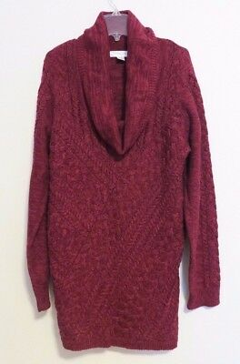 Women's Motherhood Maternity Sweater - Cowl Neck, Red - Size XL