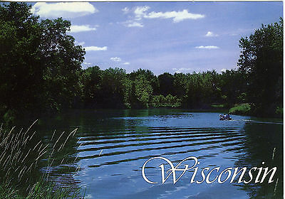 Wisconsin Lake Fishing Scene  Photo by Thomas Rygh Postcard Ex. Condition