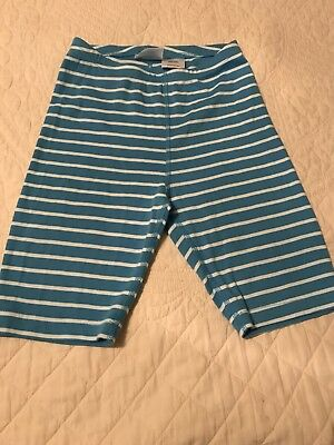 NWOT Hanna Andersson Blue Striped Organic Cotton Pajama Shorts Bottoms 130 8