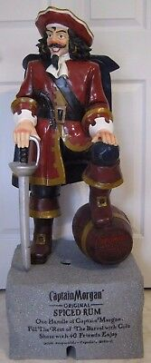 """Captain Morgan Rum Statue Store Display Large 41"""" Tall! Excellent Condition!"""