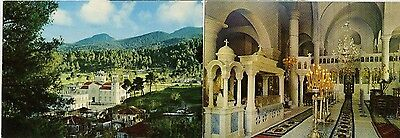 2 St John the Russian Holy Temple Uncirculated Postcards  Greece Ex Cond