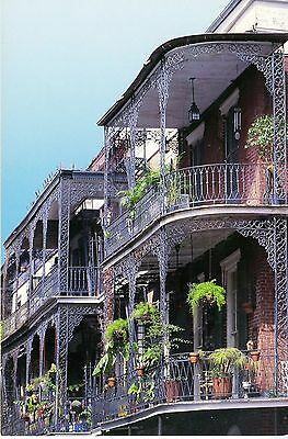 Postcard Lace Balconies French Quarter, New Orleans, LA  Ex. Cond. Uncirculated