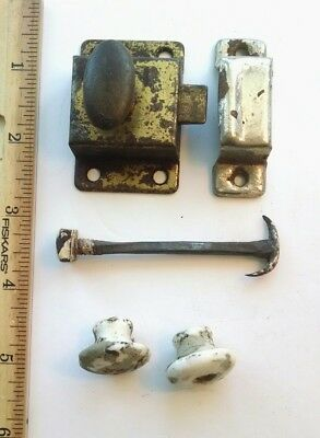 Group of antique Eastlake Style Hardware - Door Plates - Hinges - Pulls ++++++
