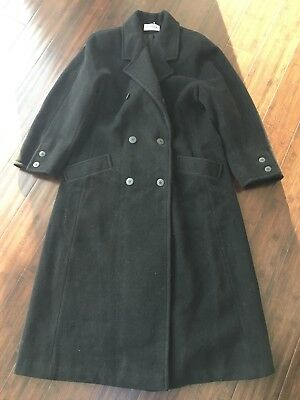Vintage J G Hook Black Wool Long Dress Coat Large Made In USA Small / Medium