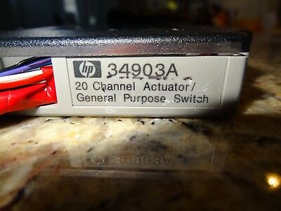 HP 34903A 20-Channel Actuator General Purpose Switch