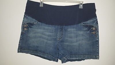 Women's Old Navy Maternity Full-Panel Waist Stretch Shorts - Plus Size Xxl