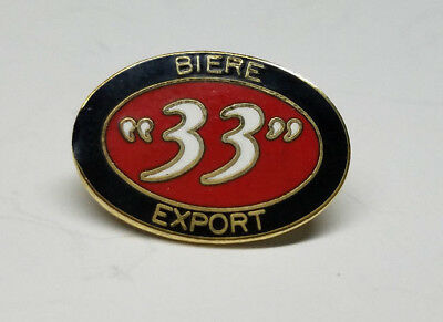 "BIERE ""33"" EXPORT  Vietnam Beer  Metal Lapel Hat  VINTAGE MILITARY PIN rare find"