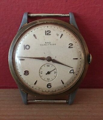 Rare Aro Ancre 17 Rubis Watch Swiss Made