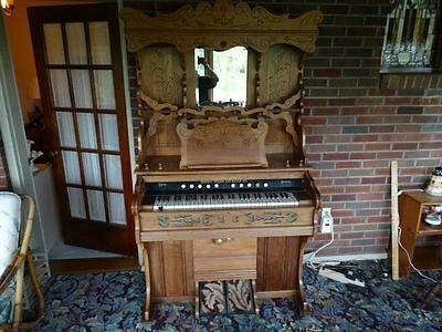 Antique Victorian Eastlake pump carved reed organ Weaver Organ