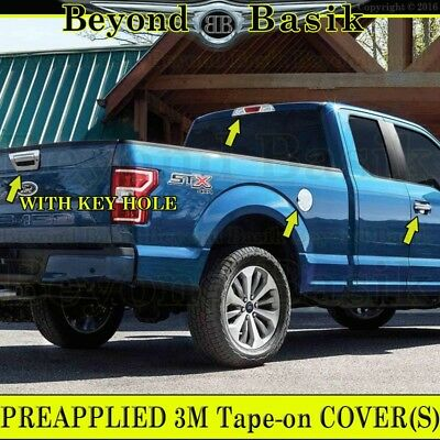 2015-2018 Ford F150 Extended//Std Cab Chrome Door Handle Covers NoSK+Mirrors Tow