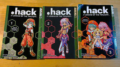 .hack legend of the twilight 1 2 3 Trilogy - Complete English Manga - Tokyo Pop