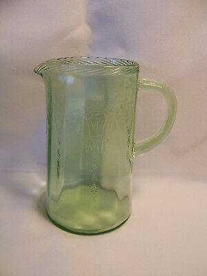 Green Depression Cameo 20 oz. Milk or Syrup Pitcher