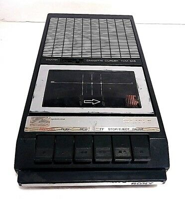 Sony Cassette Corder TCM-848 Portable Recorder Tested, Works