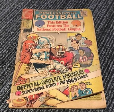 PROFESSIONAL FOOTBALL in CHARLTON SPORT LIBRARY #1 CHARLTON COMICS 1969-1970