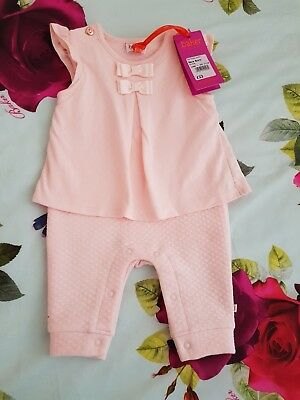 Baby Girls 🥀Ted Baker 🥀 Quilted Stylish Romper Suit Playsuit. Newborn.. BNWT