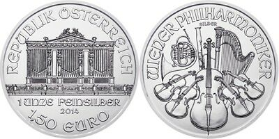 2008 Philharmonic 1 Ounce .999 Silver in Coin Flip Brilliant Uncirculated