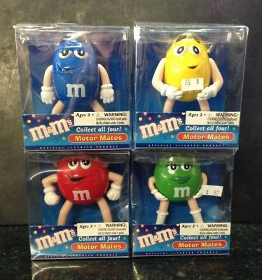 4 M&M's Motor Mates Antenna Topper Mirror Dangler Dashboard Display 2003 Toysite