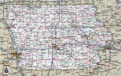 IOWA STATE ROAD MAP GLOSSY POSTER PICTURE PHOTO BANNER city desmoines 3338  Home Décor Posters & Prints Home Décor