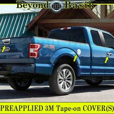 15-16 Ford F150 Triple Chrome 4 Door handle+Tailgate w//Camera Cover+Trim 2016 17