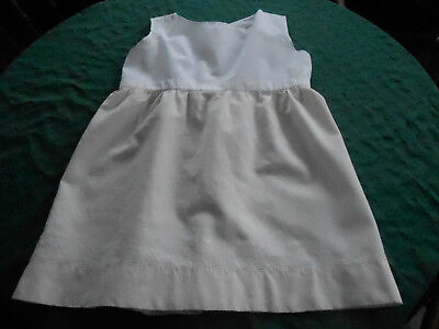 Antique Child's Wool Slip With A Hand Embroidered Hem, Early 20Th. Century