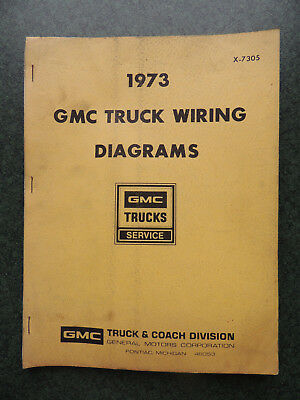 1973 GMC Truck Wiring Diagrams X-7305