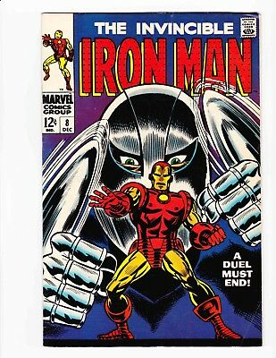 The Invincible IRON MAN 8 Dec 68 GLADIATOR Pt 2 - Condition 8.5 VF+