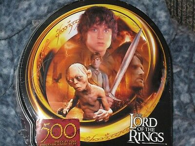 Lord Of The Rings Jigsaw Puzzle 500 Pieces Collector Tin New Guide To Mordor