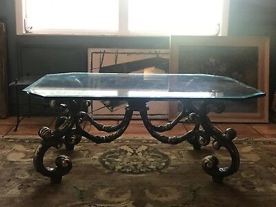 LaBarge Baroque Hollywood Regency Brass Cocktail / Coffee Table
