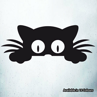 Peeking Cat Vinyl Decal Sticker Car Laptop Window Wall Art