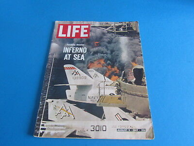 Vintage Life Magazine August 11 1967 Inferno At Sea