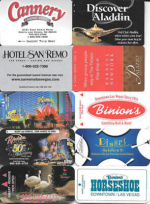 Mixed Lot (10) Different LAS VEGAS Casino Hotel Room Keys