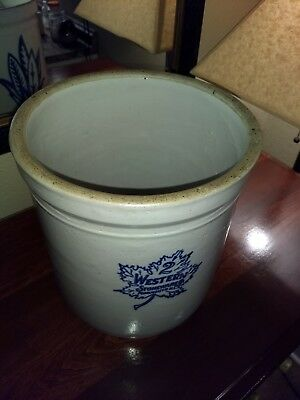 Pre-1930 Vintage 2 Gallon Straight Sided Western Stoneware Crock Monmouth IL EXC