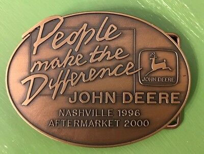 Set of 4 New John Deere Limited Edition Collectible Belt Buckles 1997 & 2000