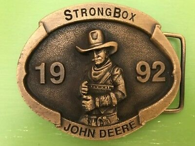 2 New John Deere Limited Edition Collectible Belt Buckles