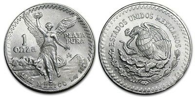 1982 Mexico 1 oz Silver Libertad Bullion in a Coin Flip