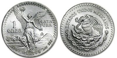 1983 Mexico 1 oz Silver Libertad Bullion in a Coin Flip