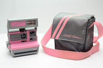 Polaroid 600 Instant Camera Pink & Grey Cool Cam & Matching Camera Bag TESTED