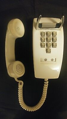Western Electric 1554 Ten 10 Button Wall Telephone Phone White 1968 Rare