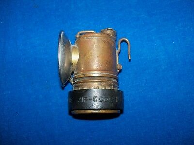 Scarce Antique Vertical Justrite Coal Mine Mining Carbide Lamp Light