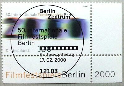 Germany 2000 : Film Festival Berlin. Corner stamp with special cancel
