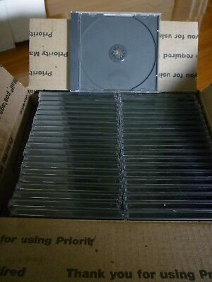 65 New BLACK Single Standard CD DVD Jewel Case assembled, free priority shipping