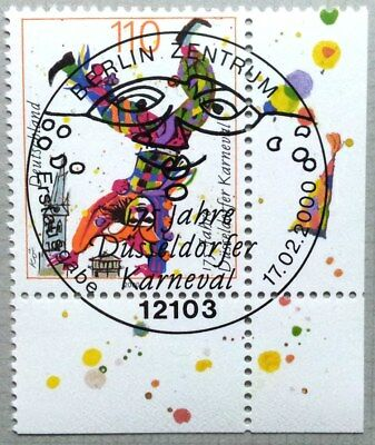 Germany 2000 : Carnival/Clown. Corner stamp with special cancel